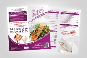 Direct Catering - ulotka 2xDL lunch menu